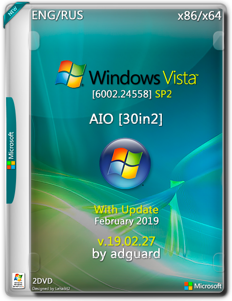 Windows Vista SP2 with Update [6002 24558] AIO 30in2 (x86